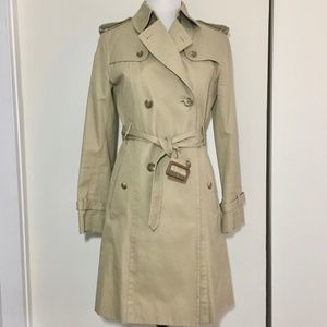 Uniqlo Khaki Trench Coat removable quilted lining
